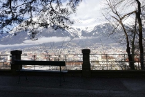 Bankerl vor Innsbruck-Panorama
