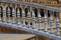 Schönes Geländer am Plaza de Espana