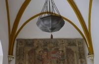 Decke mit Lampe
