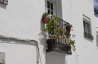 Geschmückter Balkon in Arcos De La Frontera