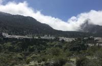 Blick auf das weiße Dorf Grazalema
