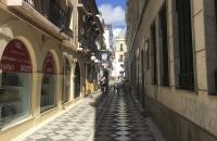 Gasse mit Shops in Ronda