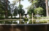 Springbrunnen im Park Campo de los Martires