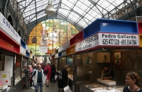 Im Inneren der Markthalle