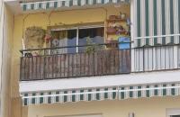 Die Balkone dienen hier oft auch als Stauraum