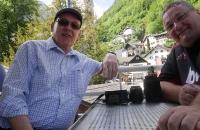 Hans und ich auf dem Rundfahrtschiff Hallstatt
