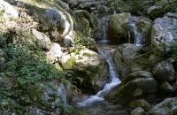 Kleiner Wasserfall in der Rehbachklamm