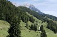 Sanfte, alpine Landschaft