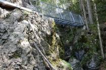 Stahbrücke in der Rehbachklamm