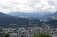 Blick über Innsbruck und den Bergisel