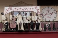 """""""Jazzmusiker"""" auf dem Cafe Jederzeit"""