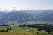 Blick auf das Brixental und Hopfgarten