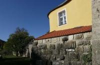 Alte Hausmauer in Kelheim