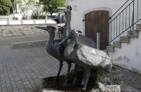Metallene Vögel in Essing