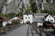 Alte Holzbrücke in Essing