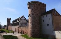 Teile der alten Stadtmauer von Obernai