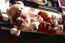 Shop mit vielen Teddybären außen dran