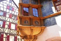 Schöner Erker eines alten Hauses