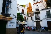 Kleine Cafes im Viertel Santa Cruz