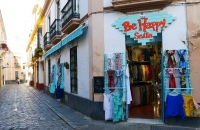 Bekleidungs-Shop im Viertel Santa Cruz