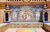Darstellung eine der spanischen Regionen am Plaza de Espana