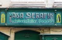 Schild eines alten Friseurgeschäftes