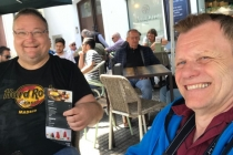 Dietmar und ich während der Mittagspause in Cádiz