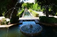 Springbrunnen im Park Generalife