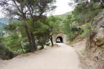 Diesem breiten Wanderweg folgten wir bis zum Staudamm