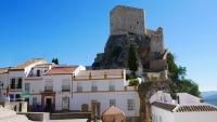 Blick auf die Festung von Olvera