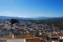 Blick über Olvera und die Umgebung