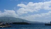 Wolkenstimmung über dem Hafen