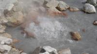 Blubberndes, heißes Wasser