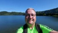 Ein Selfie am Kratersee
