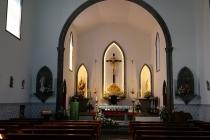 Im Inneren der Kirche von Sete Cidades