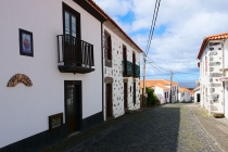 Straßenbild in Faja Grande