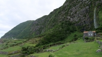 Blick auf die Landschaft nahe Faja Grande
