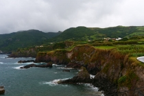 An der Küste in Ponta Delgada