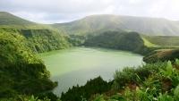 Kratersee Lagoa Funda da Lajes