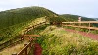 Landschaft in der Nähe des Kraters