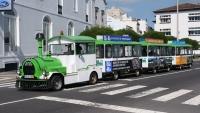 Touristenbahn in Ponta Delgada