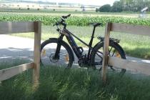 Mein Bike während einer Pause zwischen Schönkirchen-Reyersdorf und Prottes
