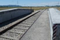 Über diese Eisenbahnbrücke mußte man auch als Radfahrer