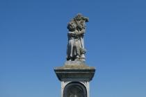 Steinerne Heiligenfigur nahe Roselsdorf