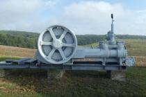 Ausstellungsstück des Erdöl-Erdgas-Lehrpfad beim Schneiderkreuz