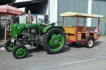 Alter Steyr-Traktor für Besucherfahrten