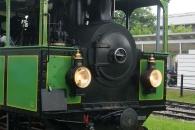 Kessel und Scheinwerfer der Lokomotive der Chiemsee Bahn
