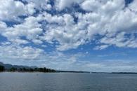 Wolkenstimmung über dem Chiemsee