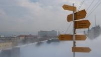 Der Nebel kam aus einer Nebelmaschine