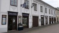 Alte Geschäfte in der Altstadt von Linz